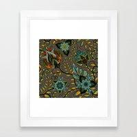 Boho Floral Pattern 17 Framed Art Print