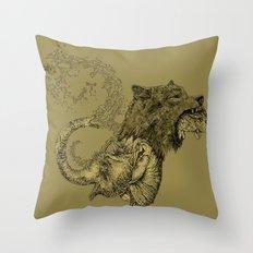 Elewolf Throw Pillow