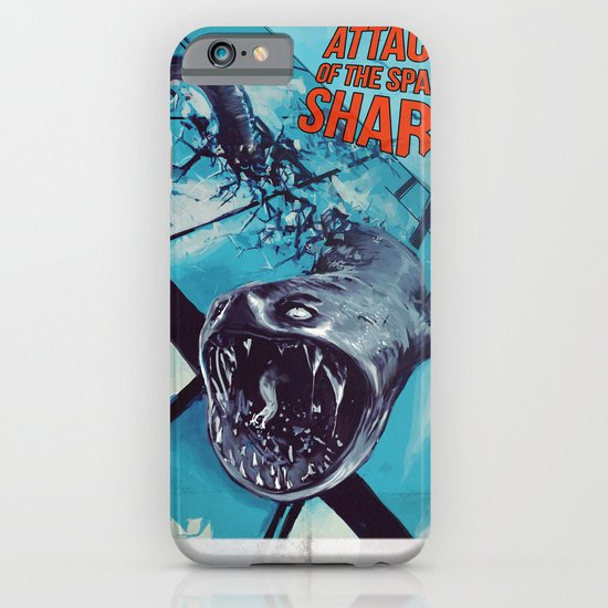 Attack of the space shark iPhone & iPod Case
