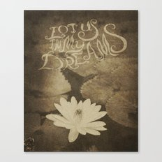 Lotus in My Dreams Canvas Print