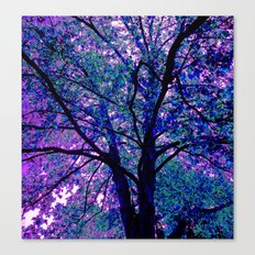 Indigo Tree Canvas Print
