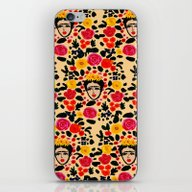iPhone & iPod Skin featuring Frida by Bouffants And Broken…