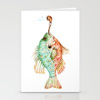 River Sunfish with a Pipe Stationery Cards