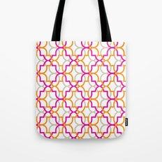 Moroccan Trellis Overlaps Tote Bag
