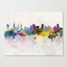 Ho Chi Minh Skyline In W… Canvas Print