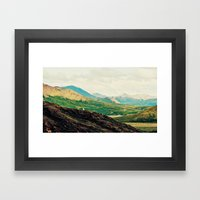 Denali Mountains  Framed Art Print