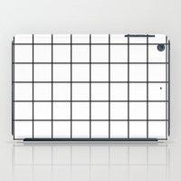 White Grid iPad Case