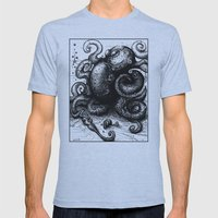 Octopus #8 Mens Fitted Tee Athletic Blue SMALL