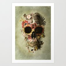 Garden Skull Light Art Print