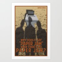 Office Space Movie Quote… Art Print