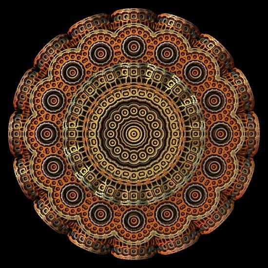 Golden Mandala Pattern Art Print