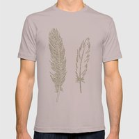 Luxe Feathers Mens Fitted Tee Cinder SMALL