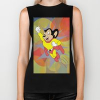 Mighty Mouse - Circles Biker Tank