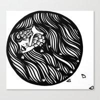 Circle Lady 1 Canvas Print
