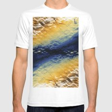 Tie-Dyed Waves SMALL White Mens Fitted Tee