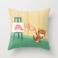 Oops!! Throw Pillow