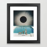 MIDNIGHT POOL Framed Art Print