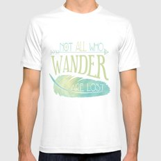 Wanderer Mens Fitted Tee White SMALL