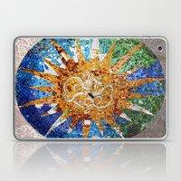 Barcelona, Spain. Parque Guell Mosaic. Laptop & iPad Skin