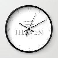 As it is in HEAVEN Wall Clock