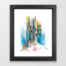 Barbershop Quartet of Evil Trees Framed Art Print