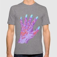 Cloud Nails Mens Fitted Tee Tri-Grey SMALL
