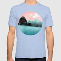 BLUE MOUNTAINS Mens Fitted Tee Tri-Blue SMALL