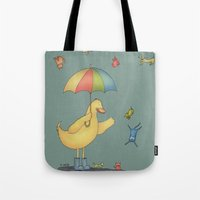 It's raining cats and dogs Tote Bag