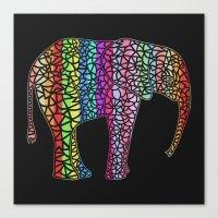 Coloured Elephant Canvas Print