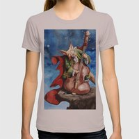 Feline counter bassist Womens Fitted Tee Cinder SMALL
