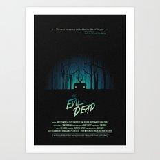 Evil Dead (1981) Movie Poster Art Print