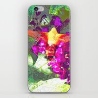 Butterfly Over Fuchsia F… iPhone & iPod Skin