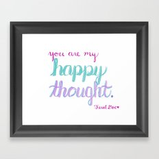 You're My Happy Thought Framed Art Print