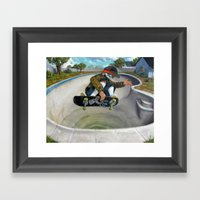 Pool Calavera Framed Art Print