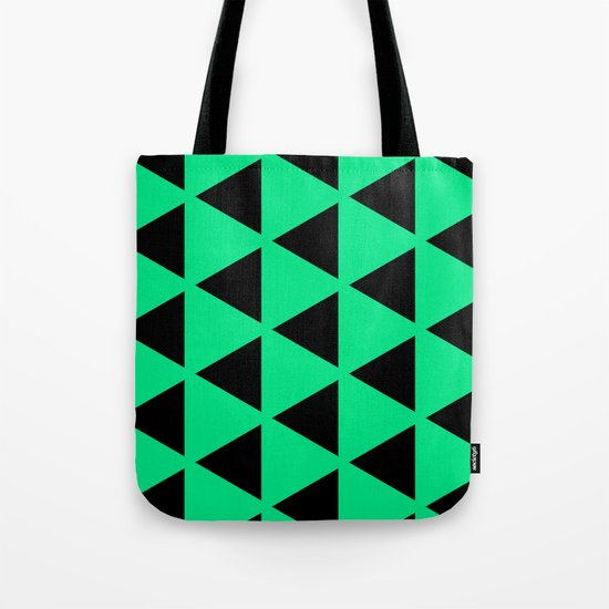 Sleyer Black on Green Pattern Tote Bag