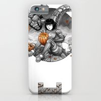 iPhone Cases featuring BounD: Halloween by Hexapus Ink