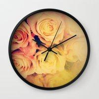 Pretty Little Roses Wall Clock