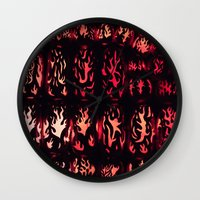 Wall of Flame Wall Clock