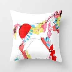 Baby horse colour Throw Pillow