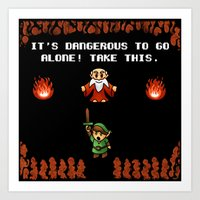 It's Dangerous To Go Alo… Art Print