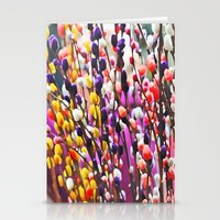 Abstract Pussy Willows Stationery Cards