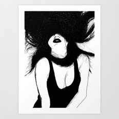 Pin Up White Version Art Print