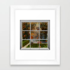 One Rainy Day In The Fall - Painting Framed Art Print
