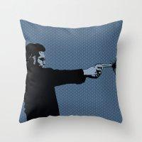Kittappa Series - Blue Throw Pillow