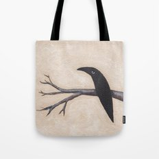 Crow On Branch  Tote Bag