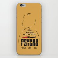 Psycho - Alfred Hitchcock Movie Poster iPhone & iPod Skin