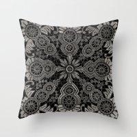 Victorian Monochrome Throw Pillow