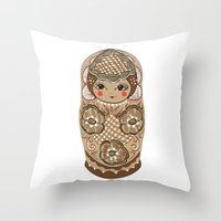 Matrushka Throw Pillow