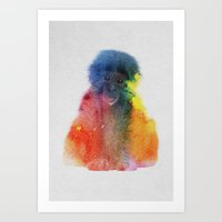 monkey Art Prints featuring Monkey by Andreas Lie