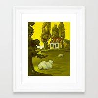 The Homestead Framed Art Print